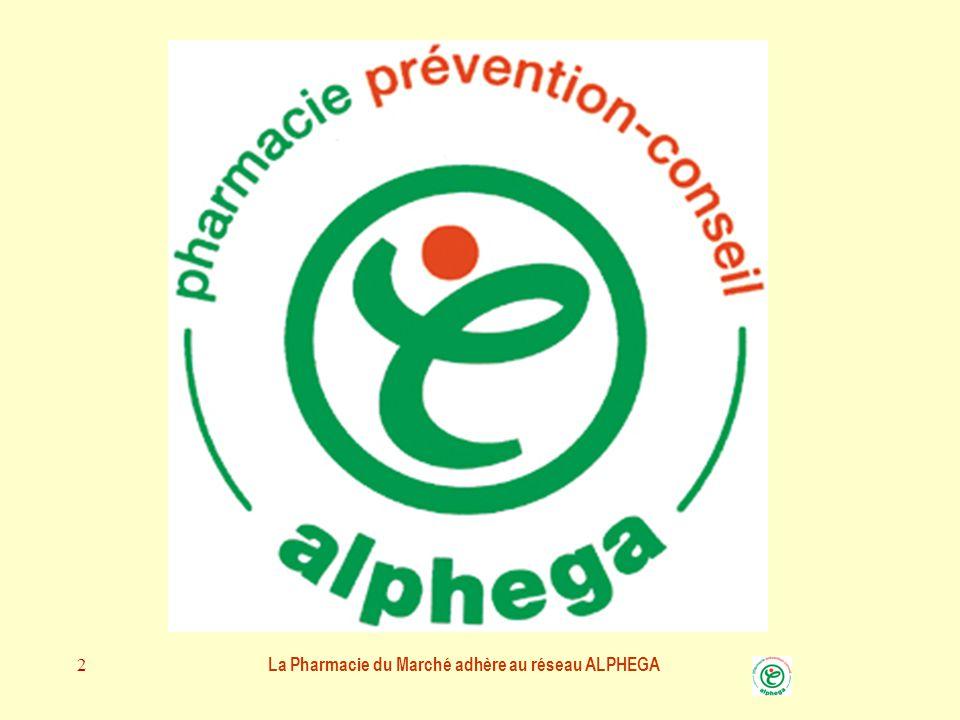 La Pharmacie du Marché adhère au réseau ALPHEGA 2 LA PHARMACIE DU MARCHE Pharmacie ALPHEGA