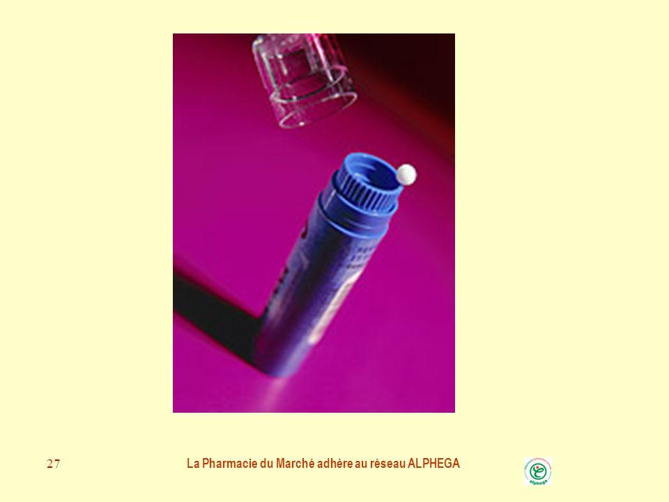 La Pharmacie du Marché adhère au réseau ALPHEGA 26 MEDICAMENT HOMEOPATHIQUE et BEBE Les médicaments homéopathiques peuvent être dissous dans un peu d'eau Dans une cuillère ou un biberon sans les chauffer Il est important de changer la solution tous les jours