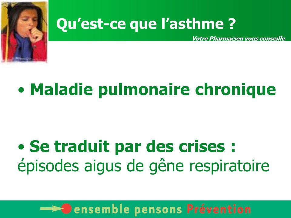 Votre Pharmacien vous conseille Qu'est-ce que l'asthme .