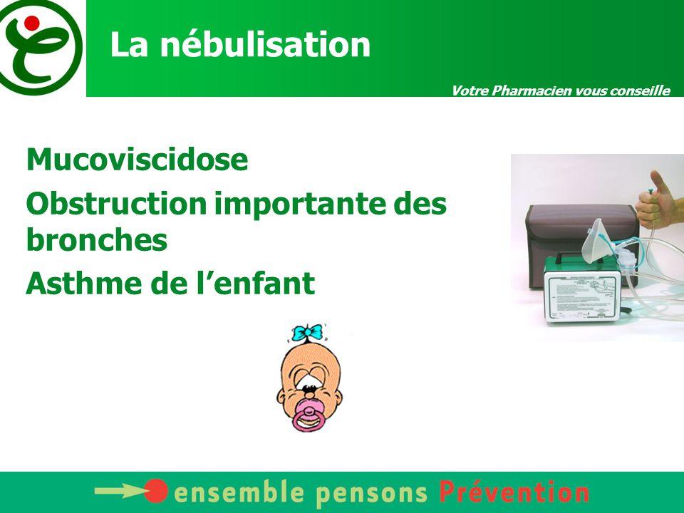 Votre Pharmacien vous conseille La nébulisation .