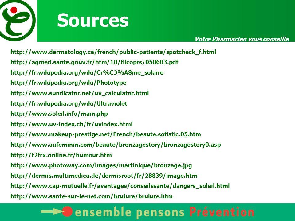 Sources http://www.dermatology.ca/french/public-patients/spotcheck_f.html http://agmed.sante.gouv.fr/htm/10/filcoprs/050603.pdf http://fr.wikipedia.or