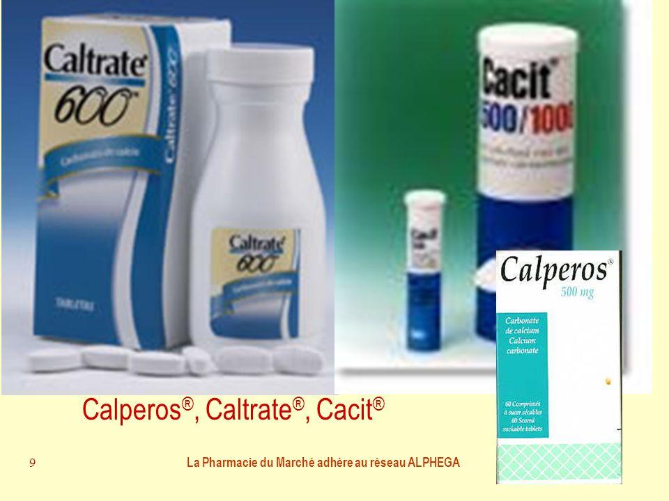 La Pharmacie du Marché adhère au réseau ALPHEGA 9 Où trouver le calcium .