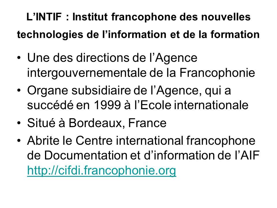 Depuis 2003, création d'un site portail du droit francophone http://droit.francophonie.org