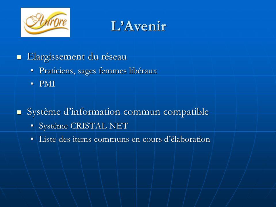 L'Avenir Elargissement du réseau Elargissement du réseau Praticiens, sages femmes libérauxPraticiens, sages femmes libéraux PMIPMI Système d'informati
