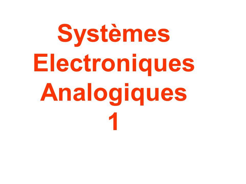 Systèmes Electroniques Analogiques 1
