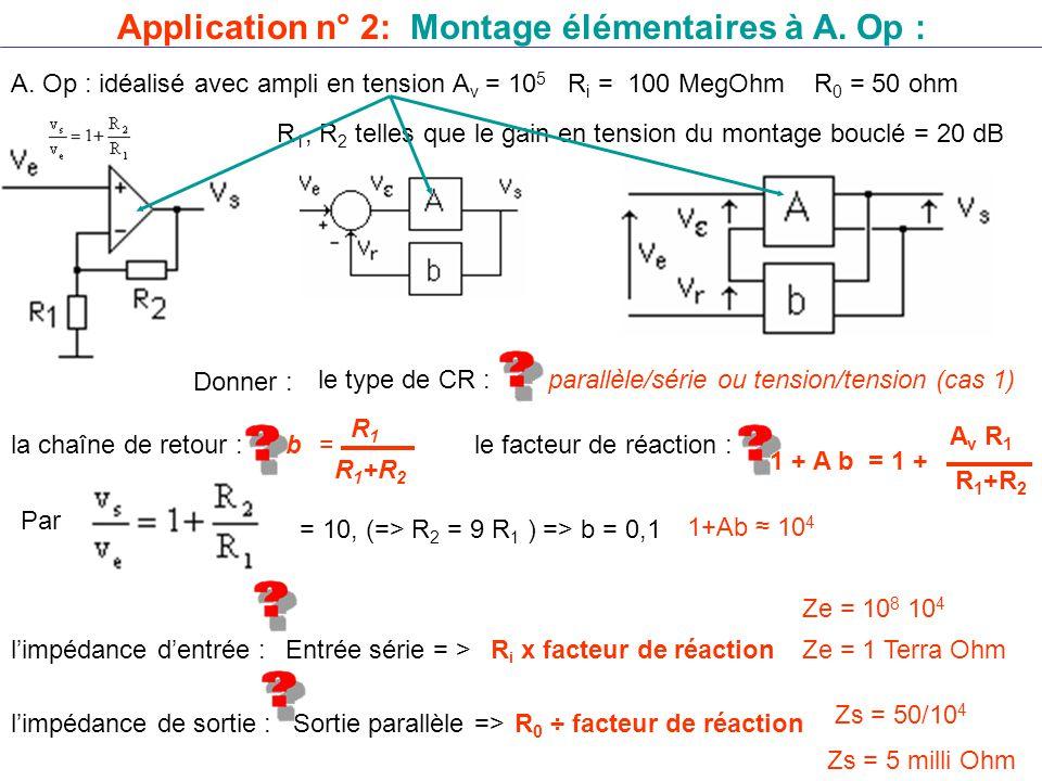 Application n° 2: Montage élémentaires à A.Op : A.