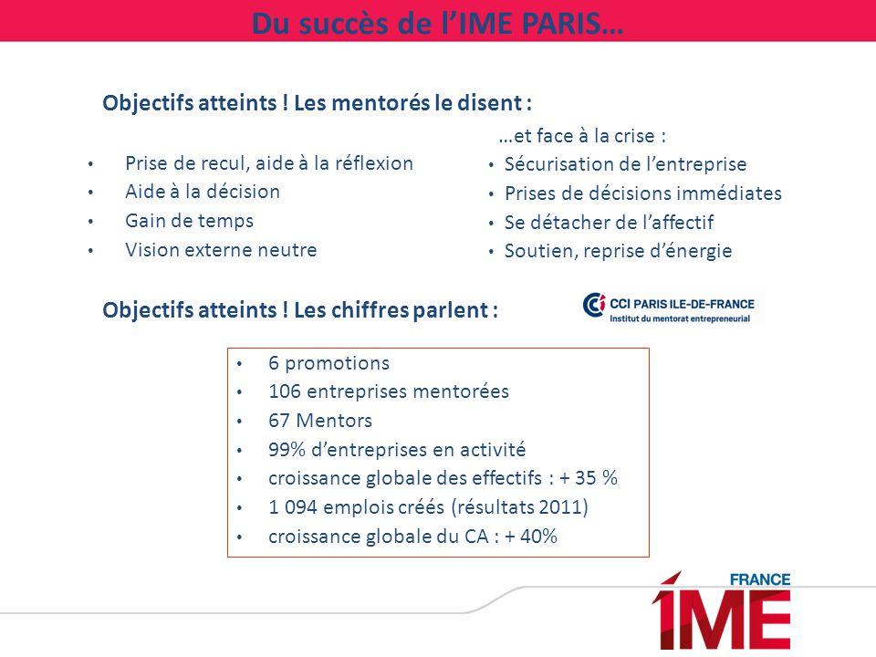 …à son déploiement en régions Avec l'appui financier de l'Etat : Soutien financier de la DGCIS pour la création d'une structure faîtière sous statut associatif, l'association française des IME.