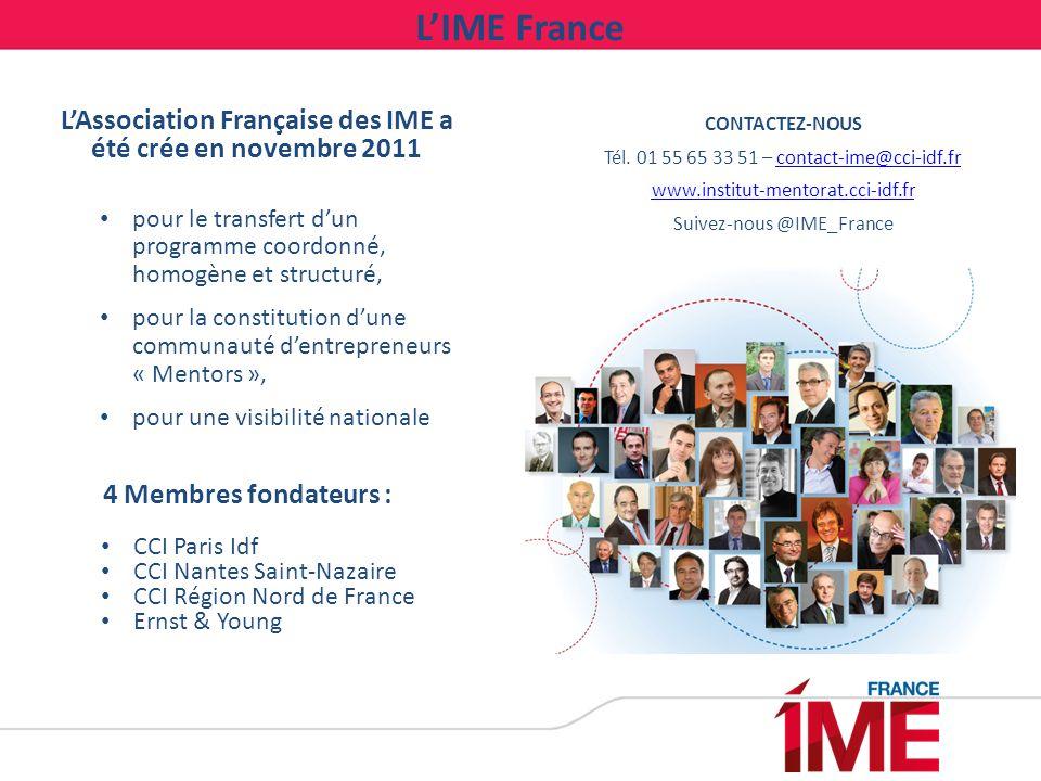 CONTACTEZ-NOUS Tél. 01 55 65 33 51 – contact-ime@cci-idf.frcontact-ime@cci-idf.fr www.institut-mentorat.cci-idf.fr Suivez-nous @IME_France L'Associati