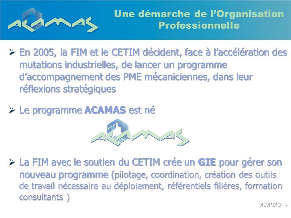  En 2005, la FIM et le CETIM décident, face à l'accélération des mutations industrielles, de lancer un programme d'accompagnement des PME mécanicienn