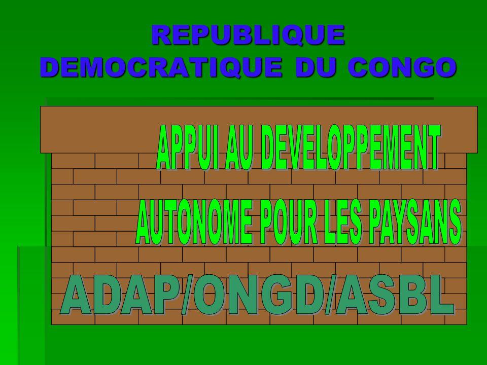 REPUBLIQUE DEMOCRATIQUE DU CONGO