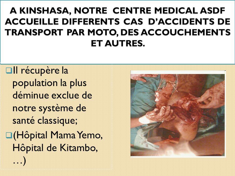 I. INTRODUCTION  ASDF s'intéresse à la promotion de la santé familiale en monde urbain et rural en partenariat avec le Ministère de la santé /RDC; 