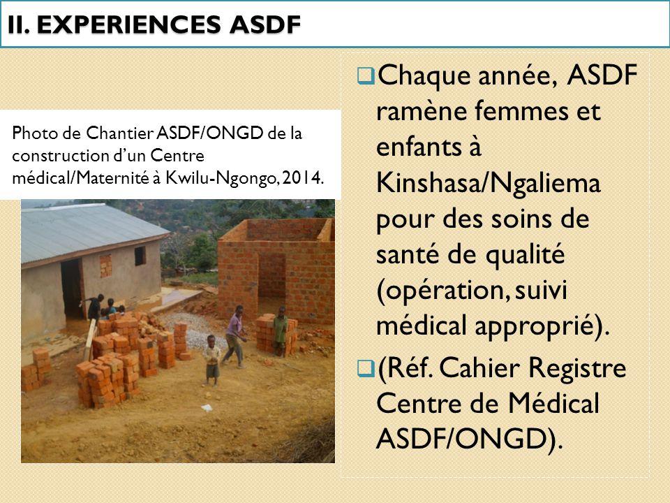  A titre indicatif, Kwilu-Ngongo dispose d'un grand Centre Hospitalier tenu par la Compagnie Sucrière.  A côté de lui, pullulent les petits dispensa