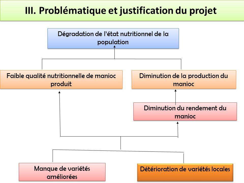 Dégradation de l'état nutritionnel de la population Diminution de la production du manioc Faible qualité nutritionnelle de manioc produit Diminution d