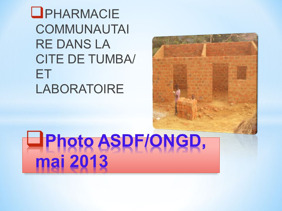 Siège social et d'exploitation 1, Avenue de l'Ecole, Q/Binza-Ozone, KINSHASA/RDCONGO Siège d'antenne BAS-CONGO 64, Av.