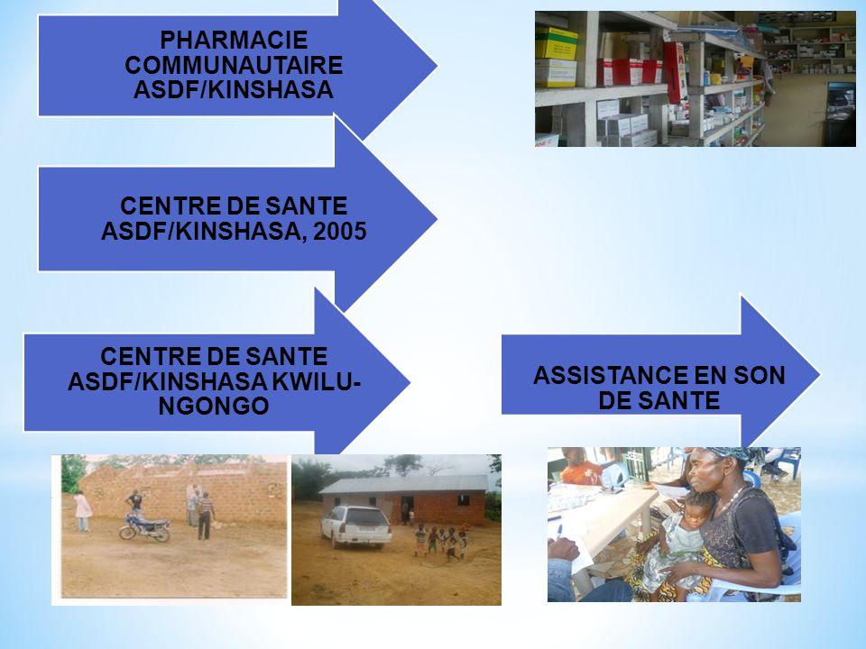3. EXPERIENCES ASDF/ONGD ASSISTANCE EN SOINS DE SANTE PRIMAIRES DES POPULATIONS DES QUARTIERS DEFAVORISES A NGALIEMA/KINSHASA, 2012