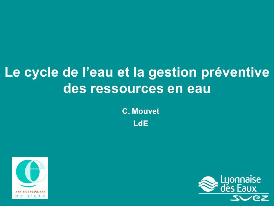 Le cycle de l'eau et la gestion préventive des ressources en eau C. Mouvet LdE