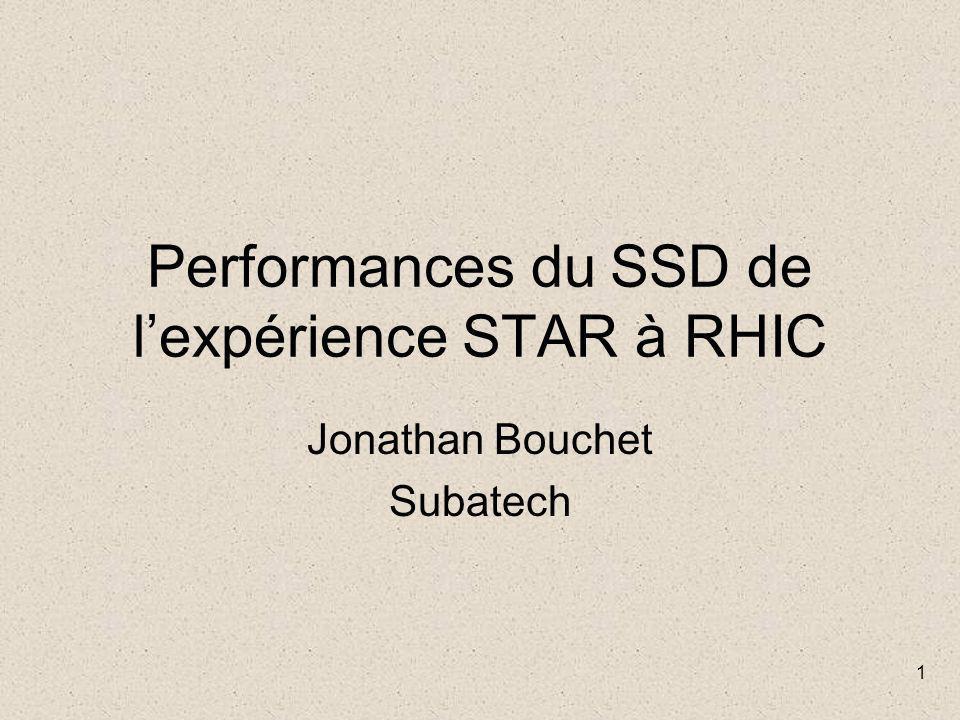 1 Performances du SSD de l'expérience STAR à RHIC Jonathan Bouchet Subatech