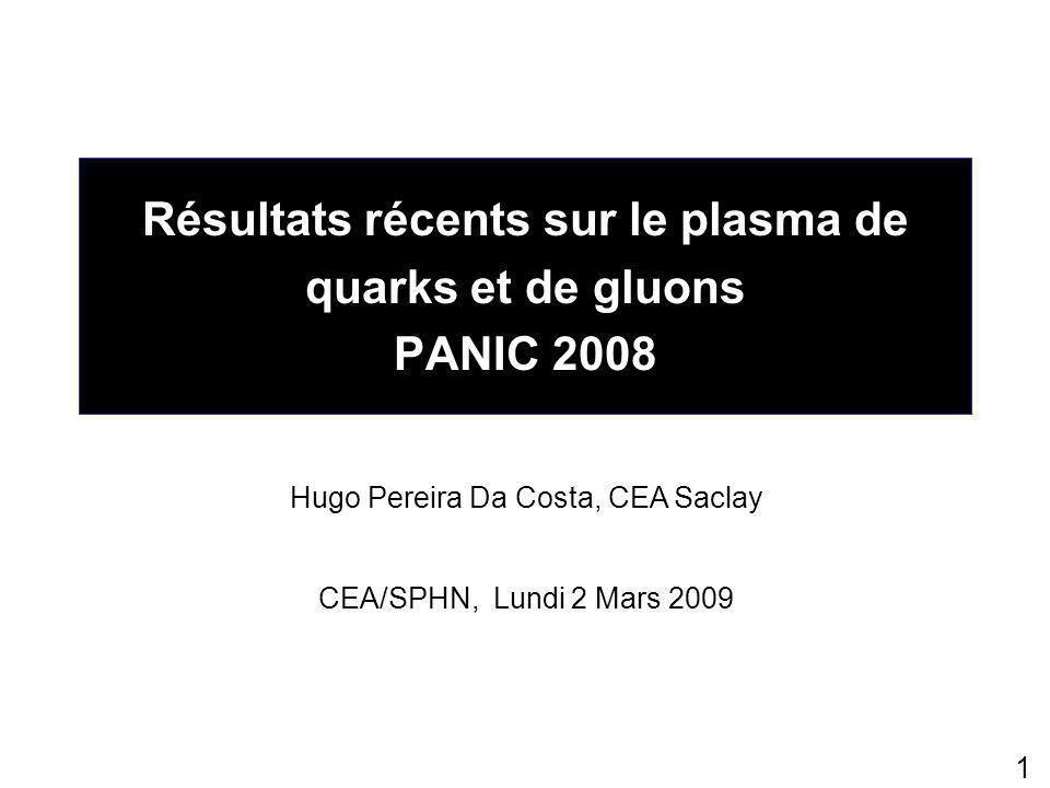 22 Collisions p+p (2) J/  issus du  PHENIX Theory J/  from  ' 0.086 ± 0.0250.08 Digal et al., Phys.