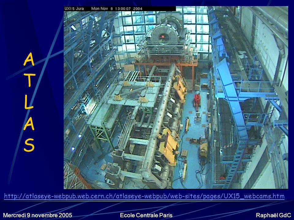 Mercredi 9 novembre 2005Ecole Centrale Paris Raphaël GdC De plus en plus grand… Coût, taille, délai des expériences de plus en plus élevés .