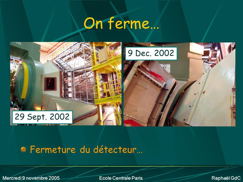 Mercredi 9 novembre 2005Ecole Centrale Paris Raphaël GdC Réduire le bruit électronique (comprendre : bidouiller) +40 21 Août 200229 Sept.