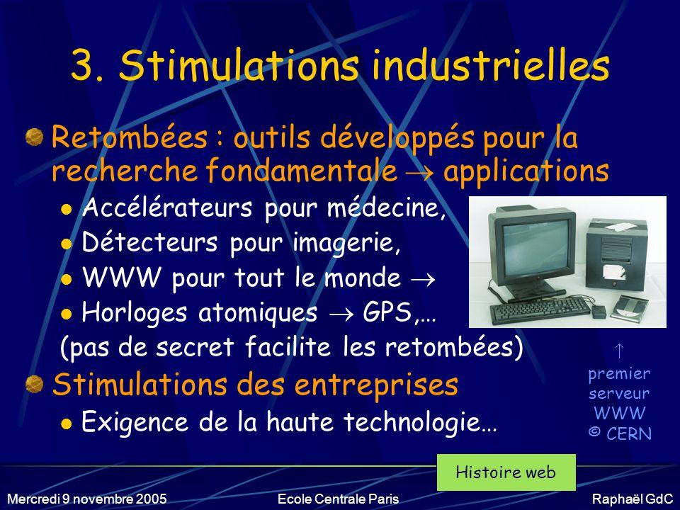 Mercredi 9 novembre 2005Ecole Centrale Paris Raphaël GdC 2.