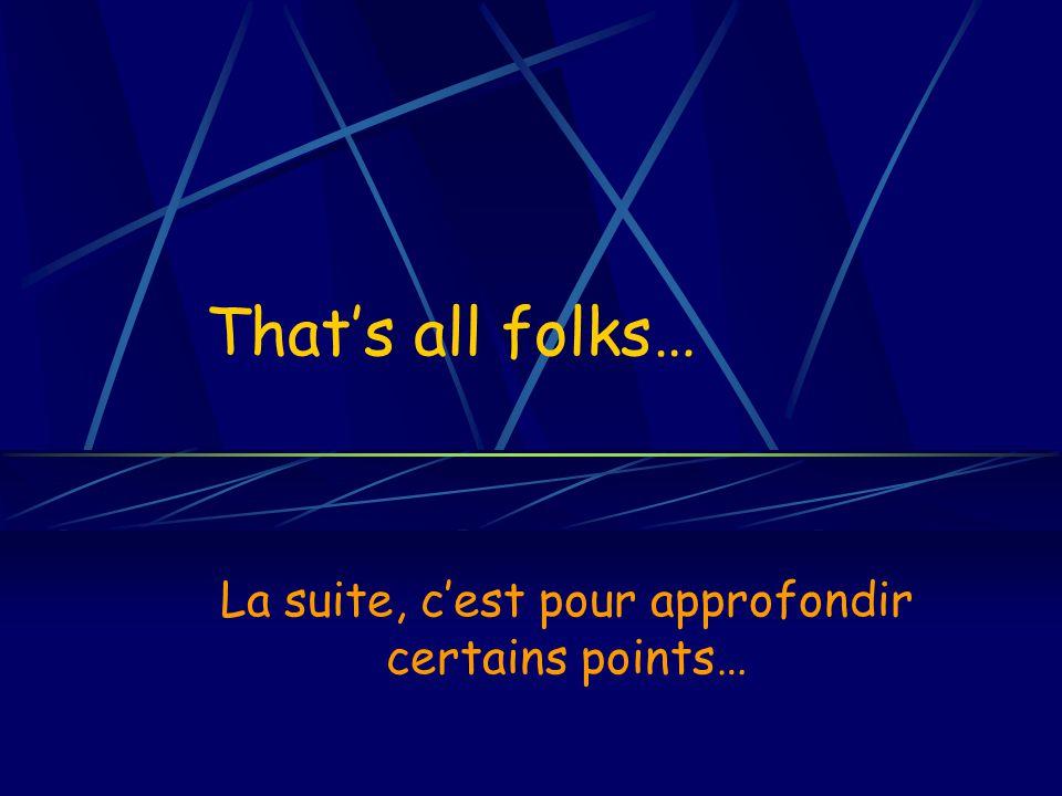 Mercredi 9 novembre 2005Ecole Centrale Paris Raphaël GdC Conclusions ?… A vous de tirer les vôtres…