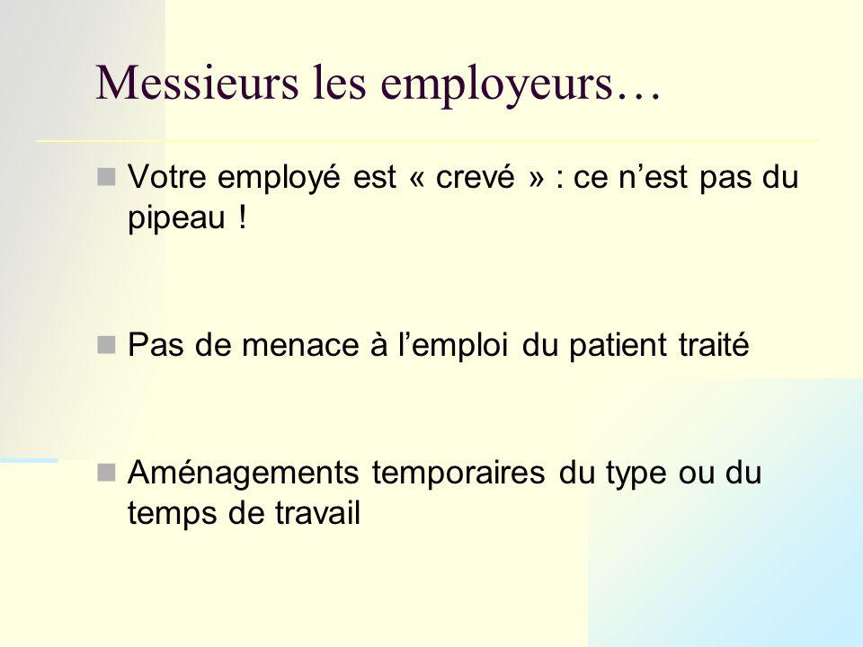 Messieurs les employeurs… Votre employé est « crevé » : ce n'est pas du pipeau .