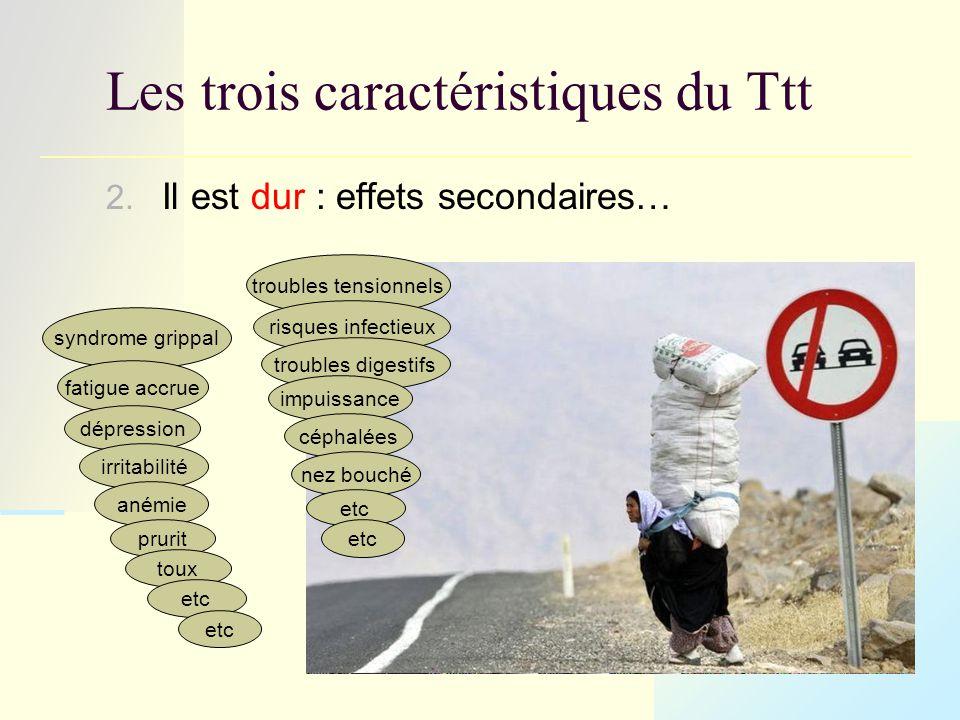troubles tensionnels risques infectieux syndrome grippal fatigue accrue dépression irritabilité Les trois caractéristiques du Ttt 2.