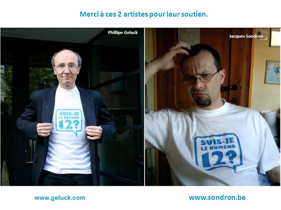 Merci à ces 2 artistes pour leur soutien. www.geluck.com www.sondron.be