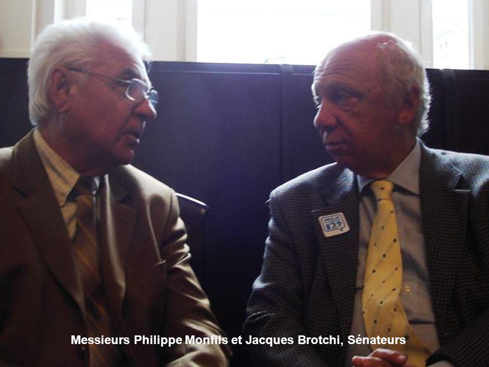 Messieurs Philippe Monfils et Jacques Brotchi, Sénateurs