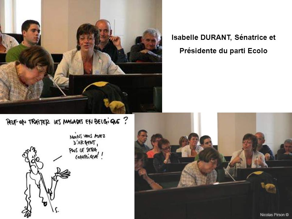 Isabelle DURANT, Sénatrice et Présidente du parti Ecolo