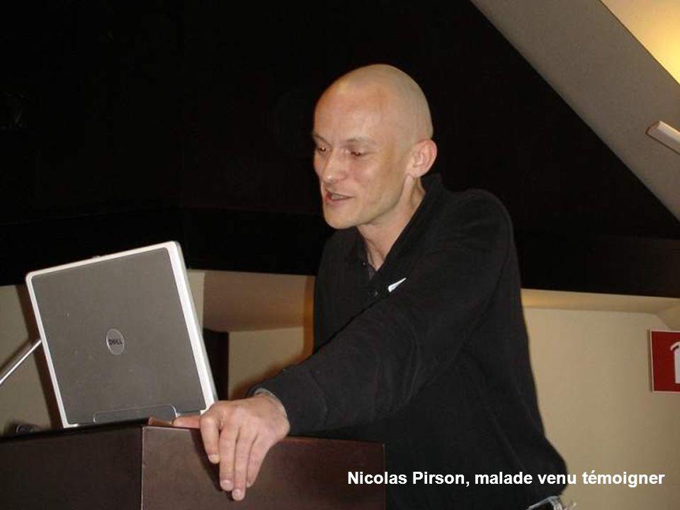 Nicolas Pirson, malade venu témoigner