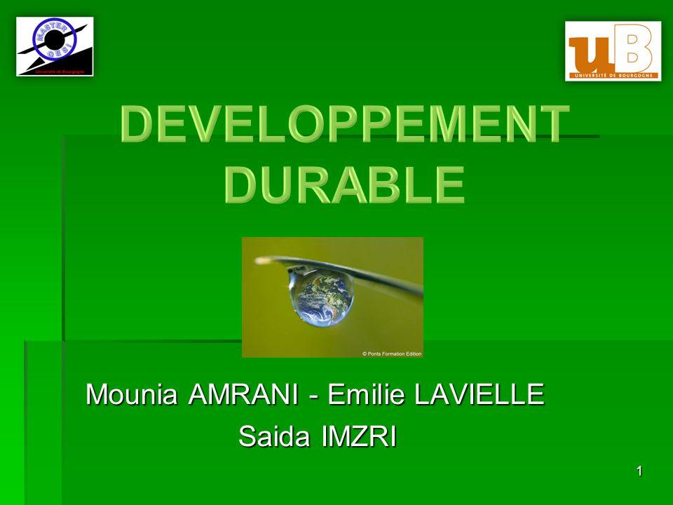 2 Plan: 1.Le Développement Durable, qu'est ce que c'est.