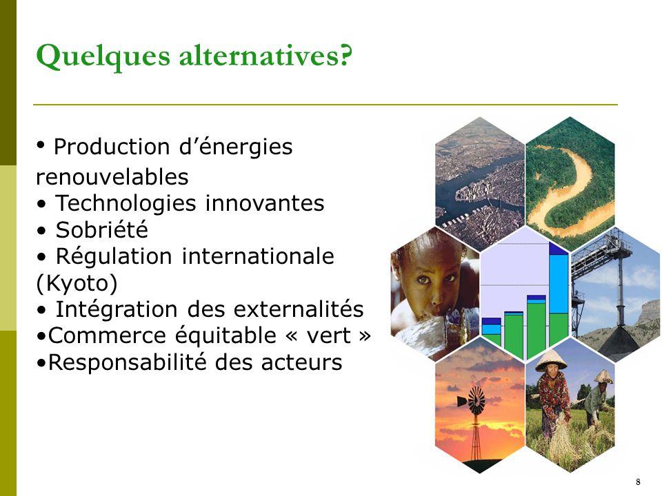 8 Quelques alternatives.