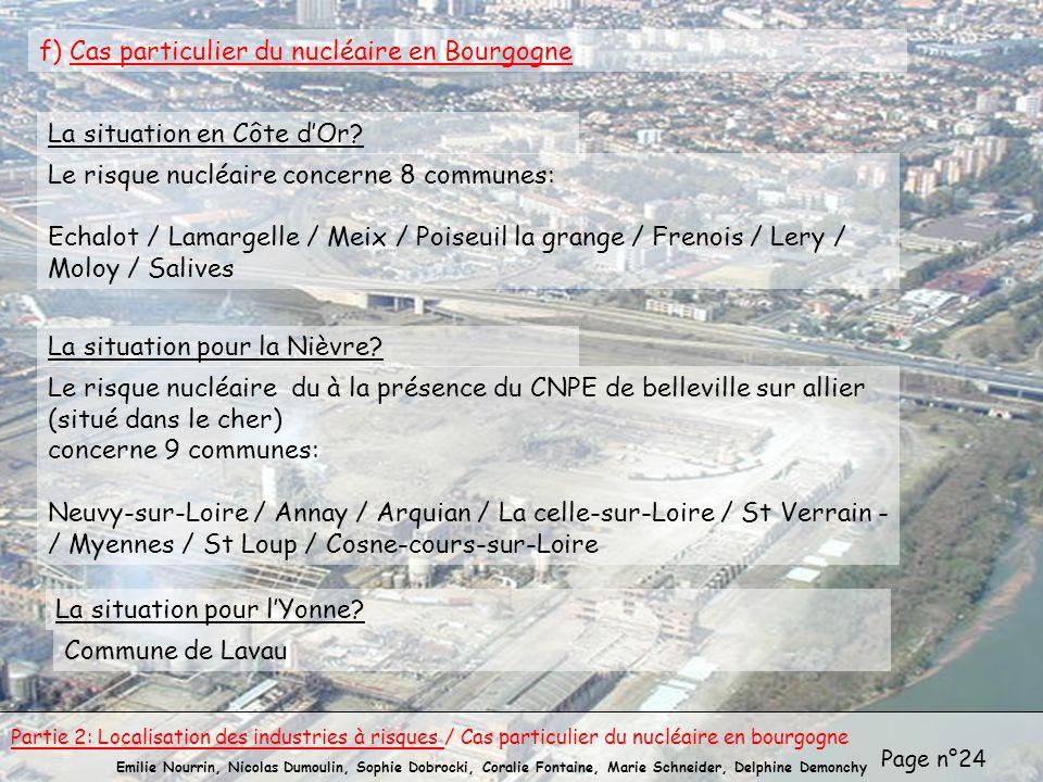 Page n°24 Emilie Nourrin, Nicolas Dumoulin, Sophie Dobrocki, Coralie Fontaine, Marie Schneider, Delphine Demonchy f) Cas particulier du nucléaire en B
