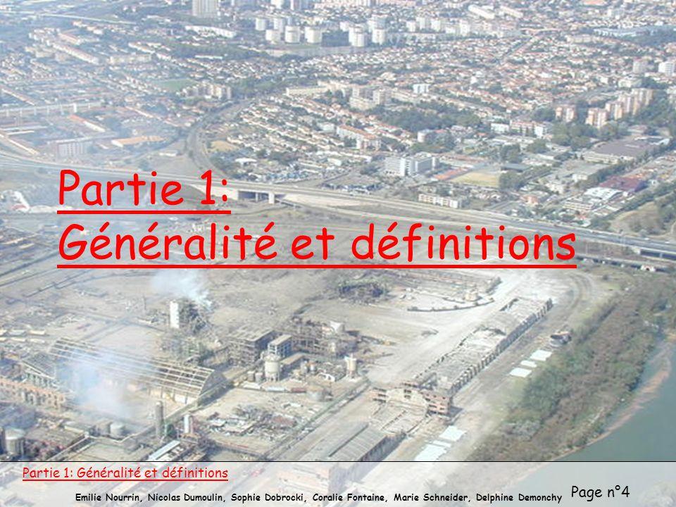 Page n°4 Emilie Nourrin, Nicolas Dumoulin, Sophie Dobrocki, Coralie Fontaine, Marie Schneider, Delphine Demonchy Partie 1: Généralité et définitions