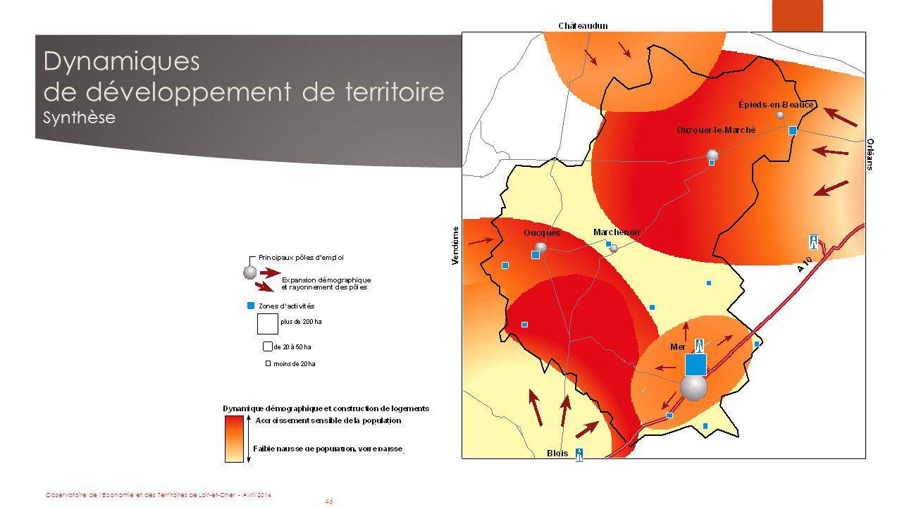 46 Dynamiques de développement de territoire Synthèse Observatoire de l Economie et des Territoires de Loir-et-Cher - Avril 2014 46