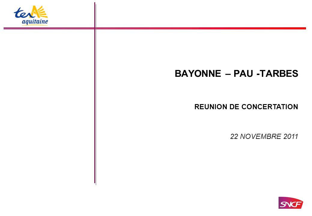 BAYONNE – PAU -TARBES 22 NOVEMBRE 2011 REUNION DE CONCERTATION