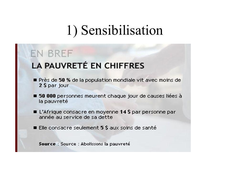 1) Sensibilisation