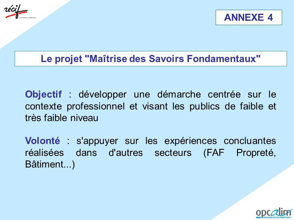 ANNEXE 4 Le projet