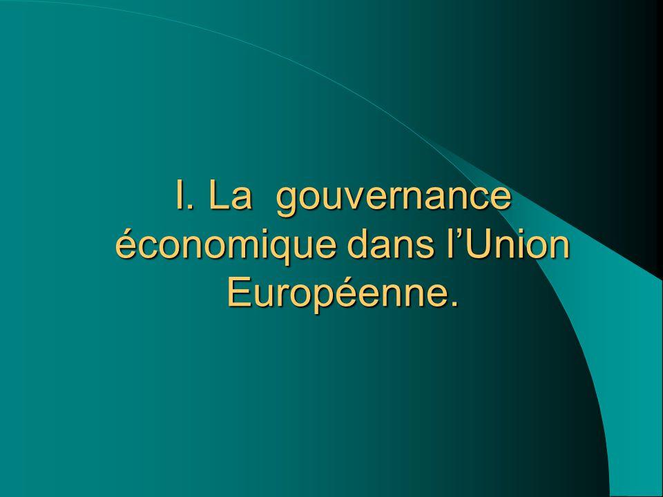 I. La gouvernance économique dans l'Union Européenne.