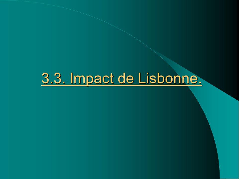 3.3. Impact de Lisbonne.