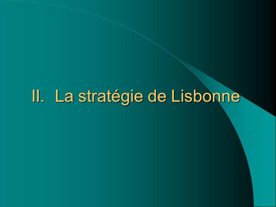 II. La stratégie de Lisbonne