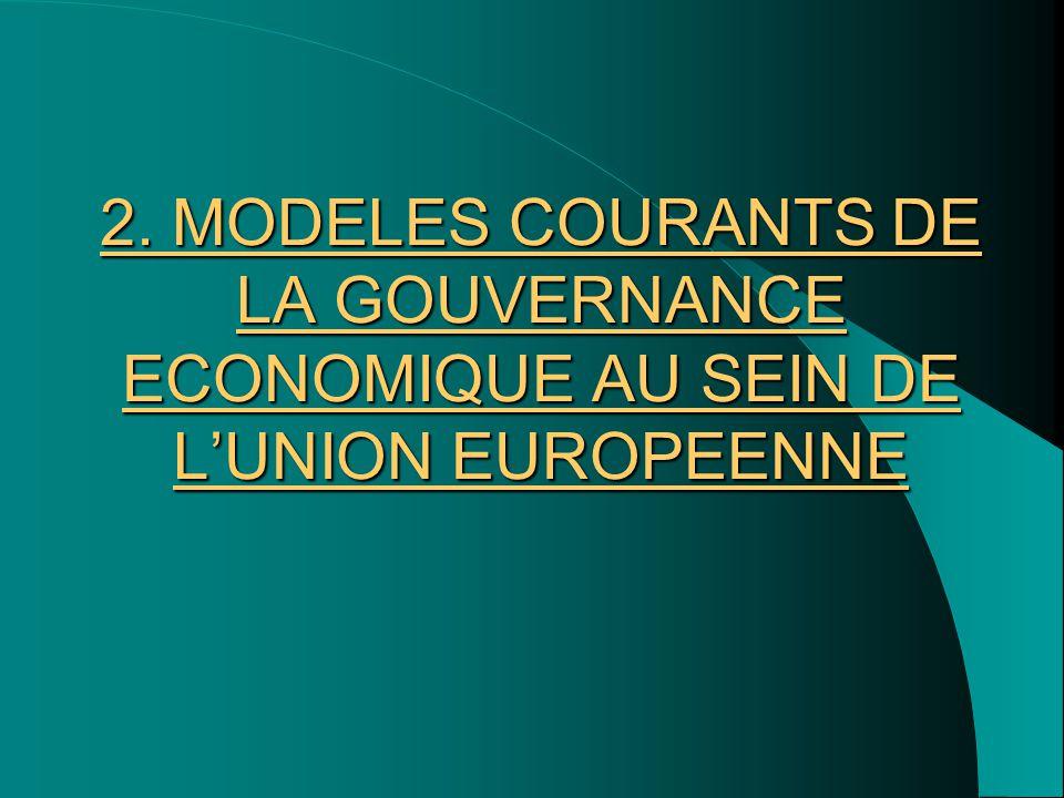 2. MODELES COURANTS DE LA GOUVERNANCE ECONOMIQUE AU SEIN DE L'UNION EUROPEENNE