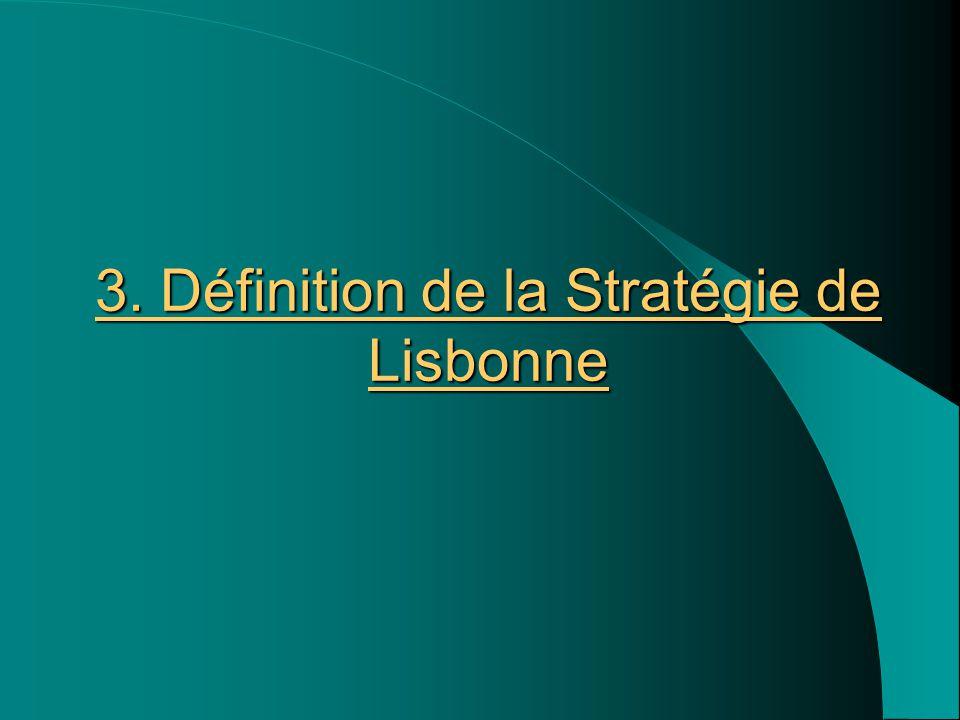 3. Définition de la Stratégie de Lisbonne
