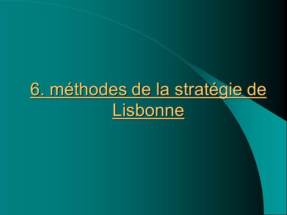 6. méthodes de la stratégie de Lisbonne
