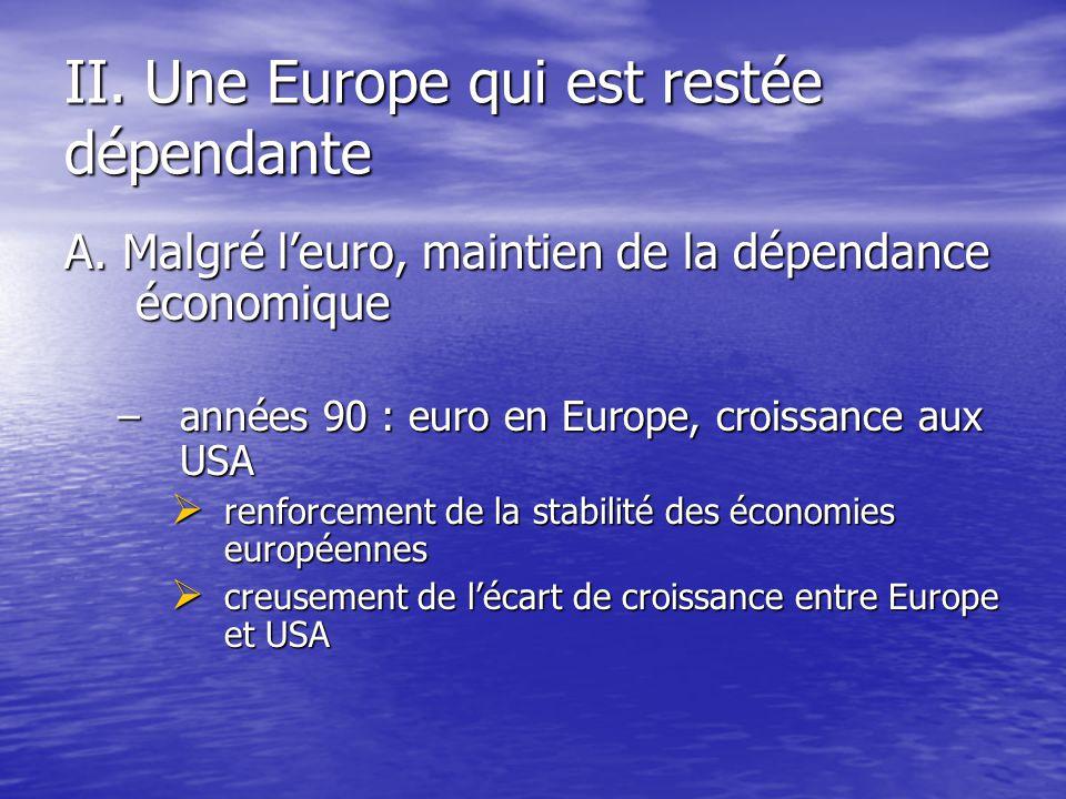 II. Une Europe qui est restée dépendante A.