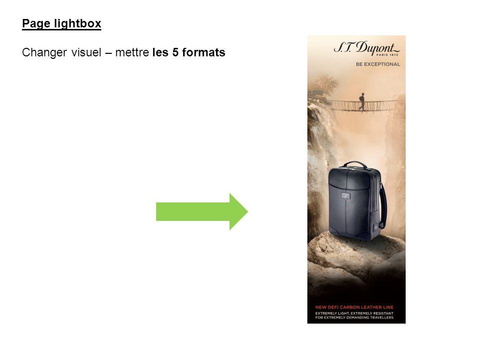 Page lightbox Changer visuel – mettre les 5 formats
