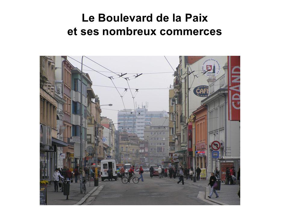 Le Boulevard de la Paix et ses nombreux commerces