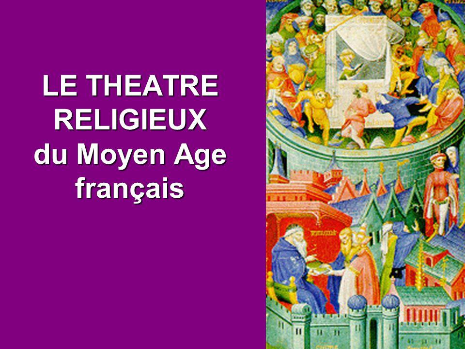 À partir du X e siècle, on représente, à l intérieur des églises et en latin, de brefs drames liturgiques, dont le sujet est tiré de la Bible.